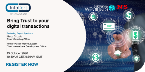 Infocert Webinar Bring Trust to your digital transactions